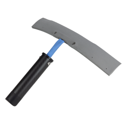Parabolic rubber squeegees